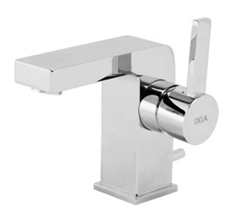 Flova Single Lever Monobloc Basin Mixer Tap with Integral Pop Up Waste - 1001