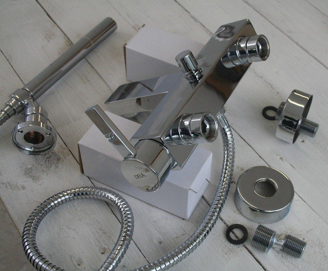 flova wall mounted manual single lever bath shower mixer