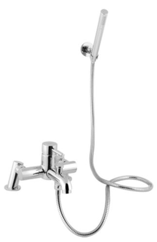 Flova Manual Single Lever Bath and Shower Mixer Chrome with Hand Shower Set