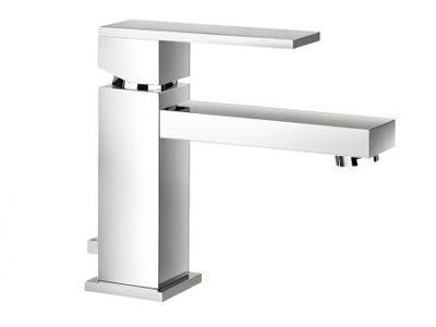 Monobloc Basin Mixer Blade Style Single Lever Handle with Integral Pop up Waste