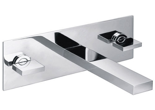 Concealed 3 Hole / Piece Wall Mounted Basin Mixer Blade Style Handles Tap Only