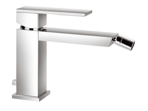 Monobloc Bidet Mixer Blade Style Single Lever Handle with Integral Pop up Waste