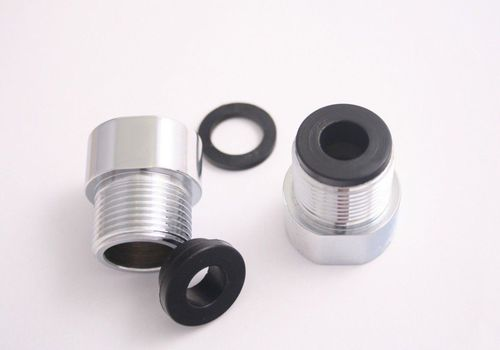 "FLOVA  Chrome Bar/ Exposed  Shower or Bath Tap Extension Bushes M/ F 3/4"" BSP"